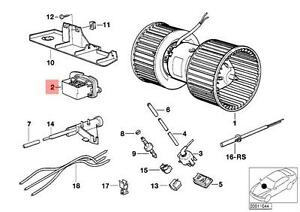 Genuine BMW E32 E34 Sedan Wagon Heater Blower Resistor OEM