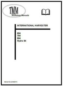 IH TMM 684 784 884 84 Hydro series Workshop Manual Printed