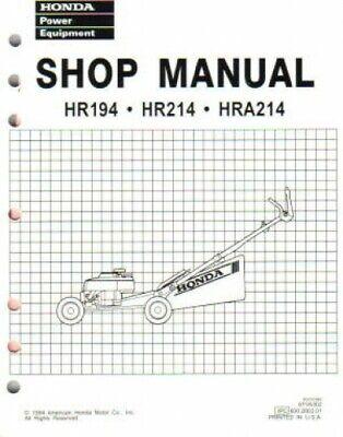 Honda HR194 HR214 HRA194 And HRA214 Lawn Mower Shop Manual