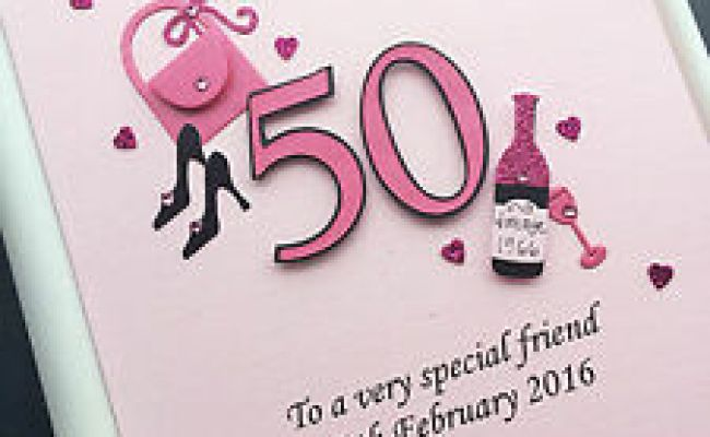 Personalised 50th Birthday Card For Daughter Wife Mum