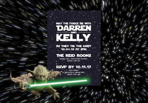 Details About 50 Personalised Star Wars Wedding Invitations The Invite Shack