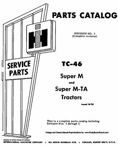FARMALL Models SUPER M and SUPER MTA MV MD MDV Parts