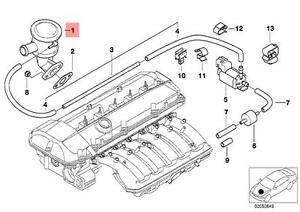 Genuine BMW E38 E39 Sedan EGR Valve Exhaust Gas