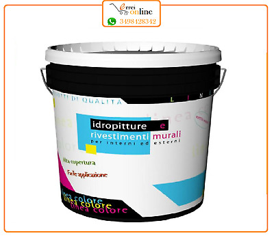 Pittura murale a tempera bianca da 4 lt ideale per ambienti domestici. Idropittura Traspirante Per Interni A Tempera Pittura Bianca 14 Lt Ebay