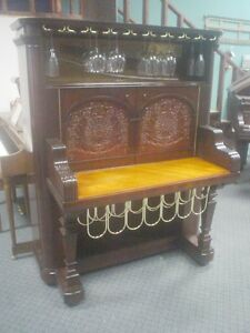 Wine CabinetBar Repurposed from Antique Kimball Upright