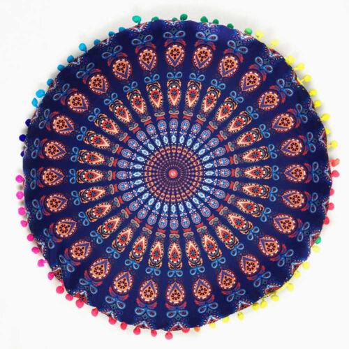 home decor pillows mandala floor pillows round bohemian meditation throw pillow cushion cover case indian south asian home decor pillows