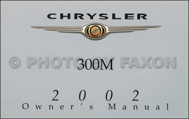 2002 Chrysler 300M Owners Manual NEW Original 300 OEM