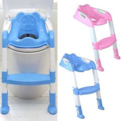 Potty Chair With Ladder Accent Orange Trainer Toilet Seat Kids Toddler Step Up Image Is Loading