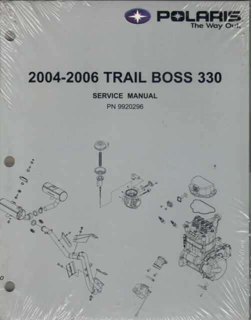 2004-06 POLARIS ATV 4 WHEELER TRAIL BOSS 330 SERVICE