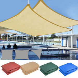 details about sun shade sail outdoor patio top canopy cover uv block triangle square rectangle