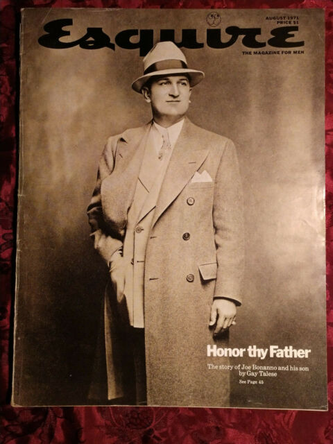 1971 Gay Talese : talese, ESQUIRE, August, BONANNO, TALESE, Sonny, Liston, Susan, Forristal