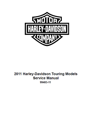 2011 Harley Davidson Tri-Glide FLHTCUTG Factory Service