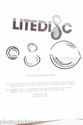 Litedisc Photoflex How-to Sheet for folding panel