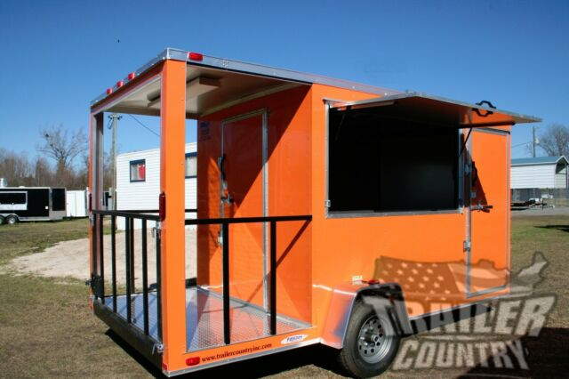kitchen trailer knives for sale new 7x14 14 enclosed concession food vending bbq mobile porch