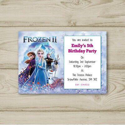 disney frozen 2 elsa anna olaf birthday party invitations ebay
