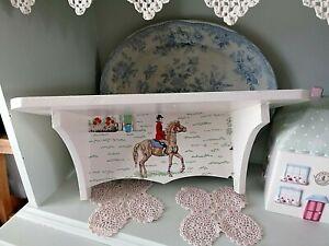 Vidaxl mensola per pareti con cassetto bianco mdf per libri/dvd 2. Mensola Da Parete In Legno Di Archiviazione Fatta Con Cath Kidston Cavallo Pony Design Arredamento Camera Da Letto Ebay