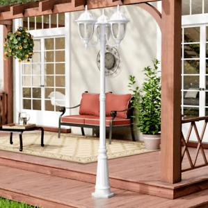 details about large 3 light 83 lamp post light outdoor lighting pole fixture street lanterns