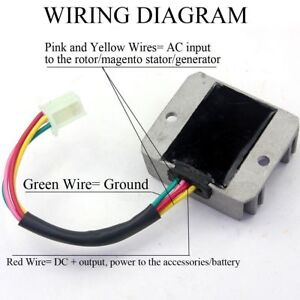 4Wire Full Wave Motorcycle Regulator Rectifier 12V DC