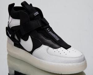 Details Zu Nike Air Force 1 Utility Mid Herren Neu Nicht Gerade Weiss Schwarz Af1 Sneakers