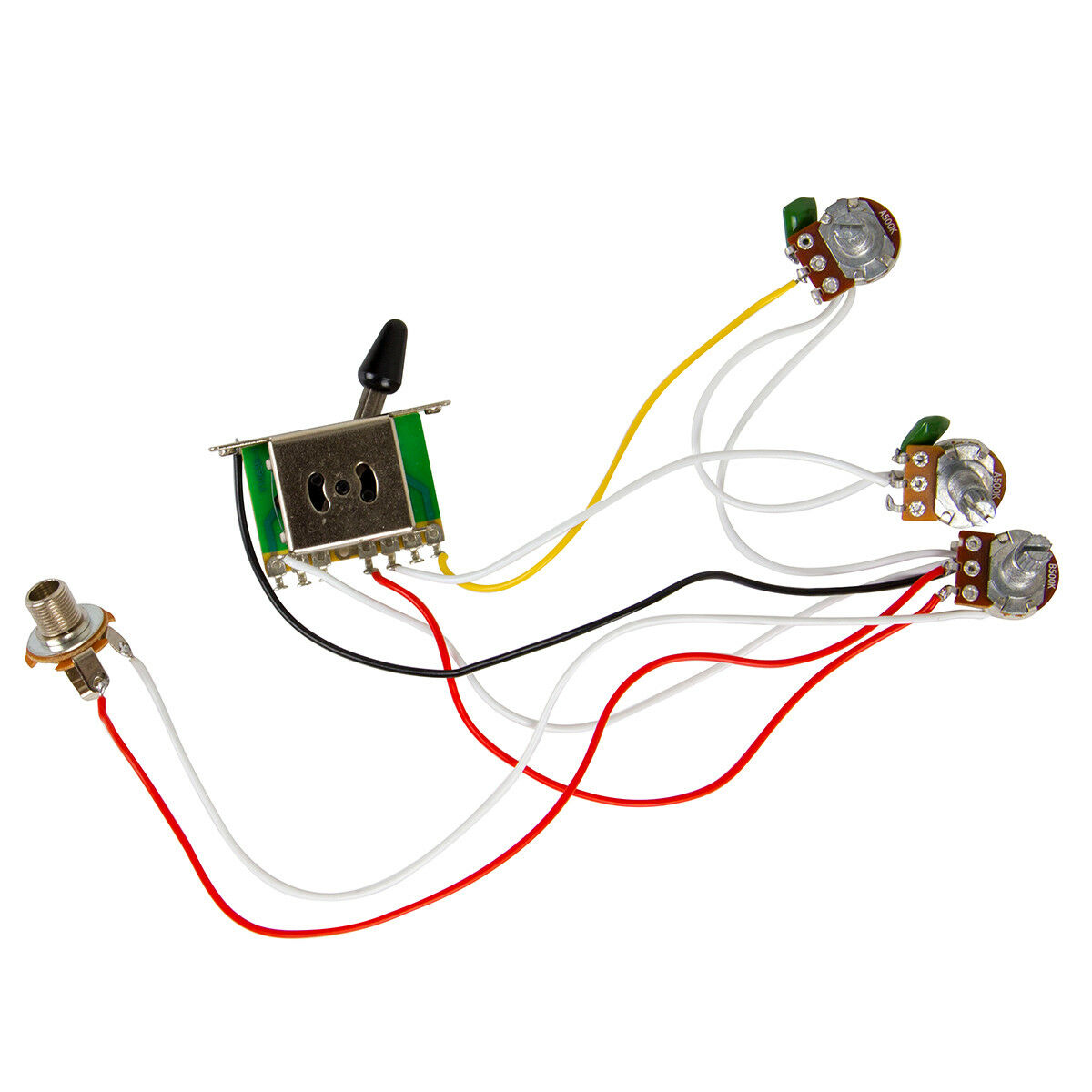 hight resolution of guitar wiring harness kit 5 way switch 500k pots for fender stratocaster strat