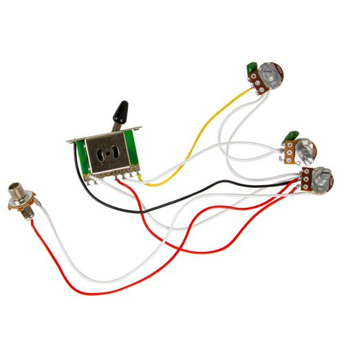 small resolution of guitar wiring harness kit 5 way switch 500k pots for fender stratocaster strat