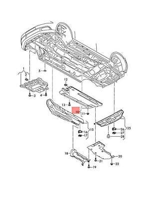 Genuine AUDI VW A3 S3 Sportback Lim. quattro. Underbody