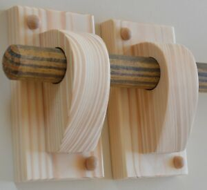 details about curtain pole brackets holders wooden curtain rod fixtures sold in 2s or 3s