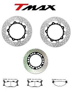 Set 3 Brake Discs Rear + Front + Pads Tmax 500 2004 2005