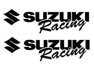 2 SUZUKI Racing Decal WHITE Sticker gsx gsxr 1000 600 rm