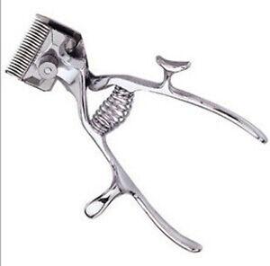 Vintage Haircut Manual Hand Hair Clipper Trimmer No