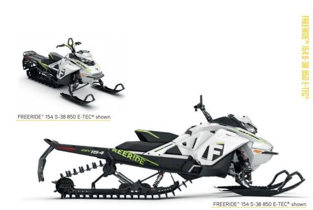 OEM 2017 Ski-Doo Freeride 154 S-38 850 E-Tec G4 Owners