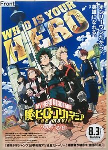 Two Heroes My Hero Academia : heroes, academia, Details, About, Academia, Movie:, Heroes, Promotional, Poster