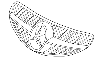 Genuine Mercedes-Benz Grille Assembly 230-880-22-83-9040