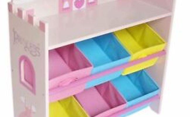 Kiddi Style Childrens Princess Wooden Shelves Storage Unit