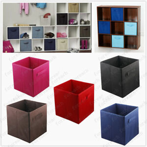 Comfortable Black Leather Storage Cube Large Leather