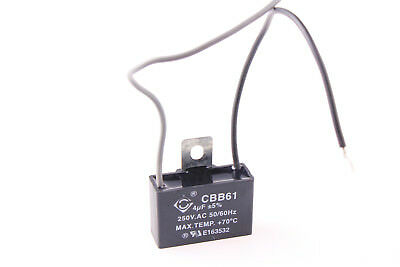 Start Capacitor 250V AC 4uf 2 Wire CBB61 New for Ceiling