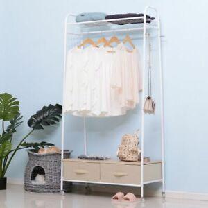 details about clothes rail garment rack shoe storage drawers shelves dress hanging hanger unit