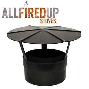 Rain Cap Black Multifuel Vitreous Enamelled Flue Pipe For