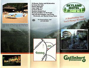Skyland Motel Gatlinburg Tennessee Travel Brochure Color Photos
