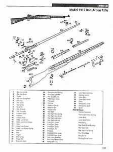 ENFIELD 1917 RIFLE, ERMA EG 722 RIFLE Exploded View/Parts
