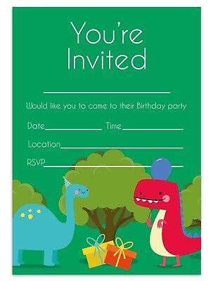 dinosaur invitations birthday party invites children kids boys girls ebay