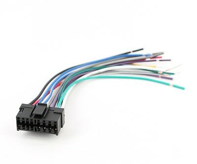 xtenzi radio wire harness for sony car sterio power plug 16 pin cdx mdx mex  xr 702383838170  ebay