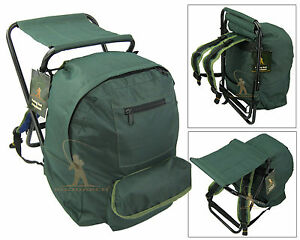 fishing chair rucksack high for baby boy tackle seat bag backpack camping stool box image is loading