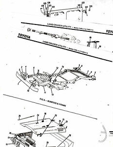 TOYOTA LAND CRUISER UTILITY FJ40L-A FJ40LV-A BODY PARTS