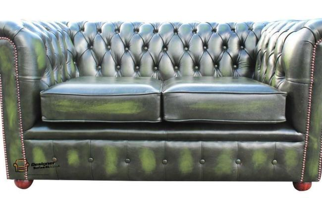 Brand New Chesterfield 2 Seater Sofa Settee Antique Green