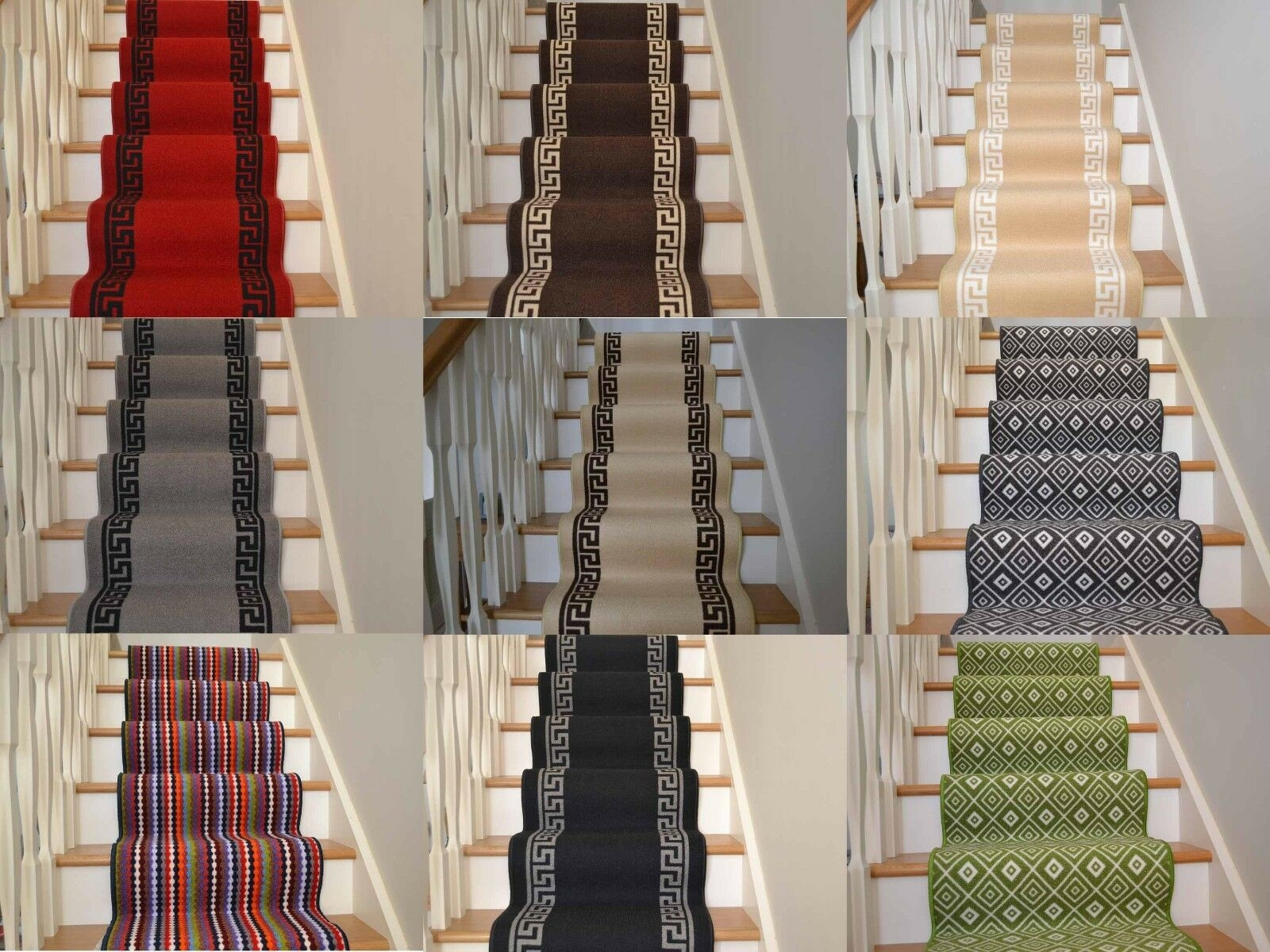 New Very Long Narrow Thin Stairway Staircase Carpet Runner Rugs | Carpet Runners For Stairs | Brown | Herringbone | Blue | Design | Wool
