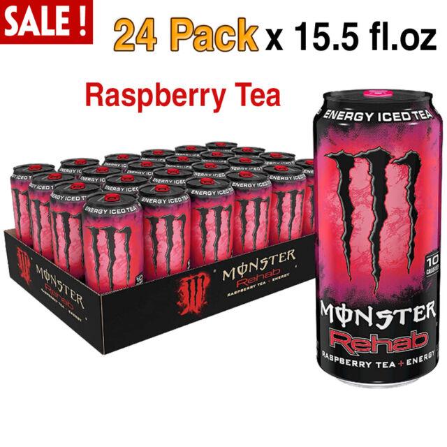 Monster Rehab Energy Drink Raspberry Tea Caffeine 24 Pack ...