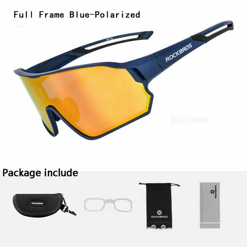 RockBros Polarized Sunglasses Bike Goggles Eyewear Bike Glasses Full Frame New