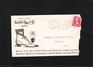 Adolph Meyer Boston Shoes Cover Letter Billhead 1899 Boston Oval Flag 13 z84  eBay
