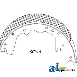 John Deere Parts BRAKE SHOE AH132840 9650CTS ((SET OF 4